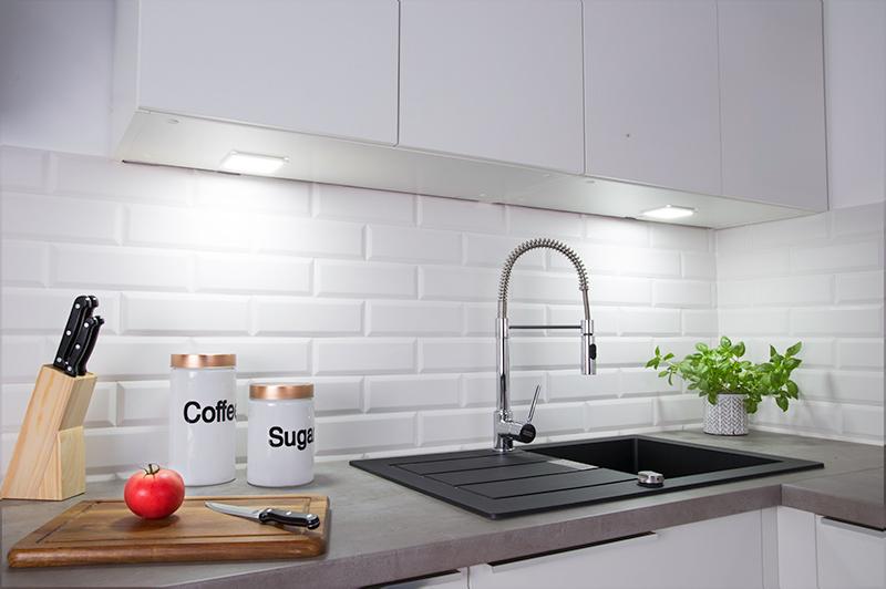 Kuchnia z oświetleniem LED