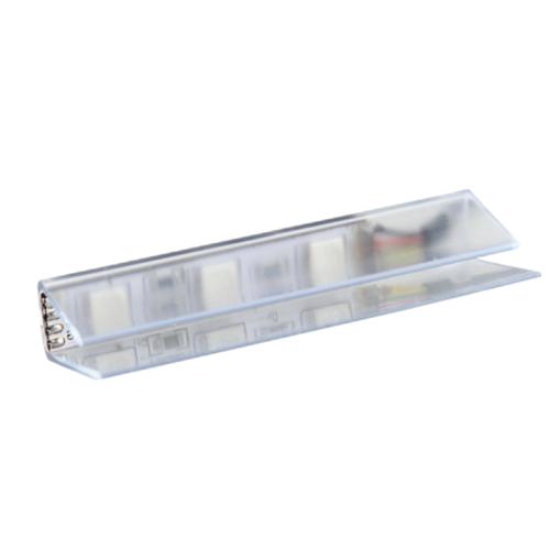Klips LED rgb do półek szklanych z plastiku. Oświetlenie LED do mebli.
