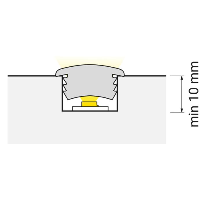 Cover eleastic - elastyczny profil led do wpustu do mebli - światło