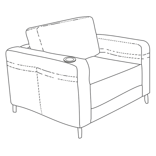 Cup holder for furniture