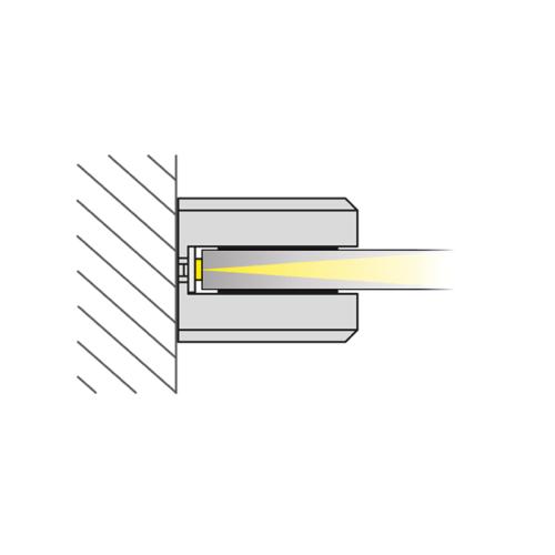 Dojo 1d - oprawa led nakładana na półkę w meblach. Światło.