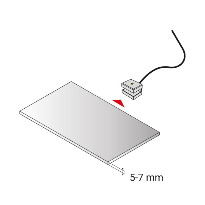 Dojo 3D oprawa LED nakładana na szklaną półkę