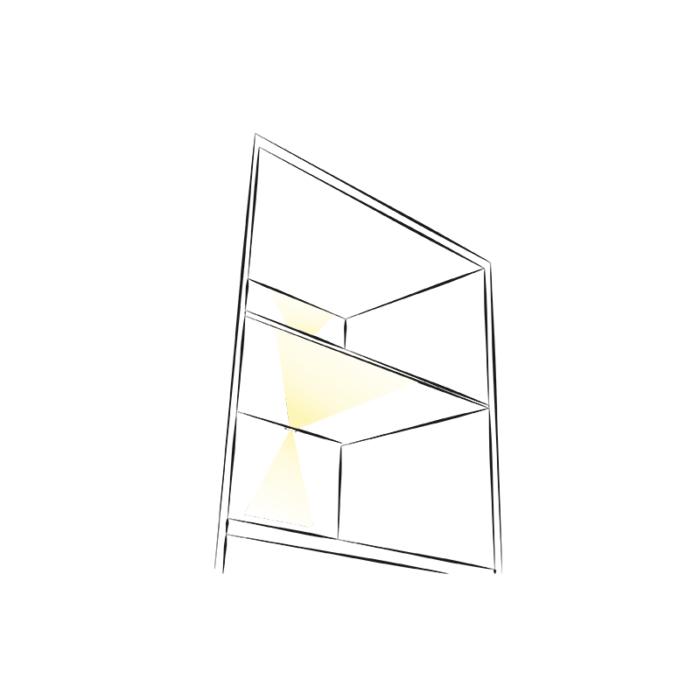 DOJO Slim 3d oprawa led do półek - meble