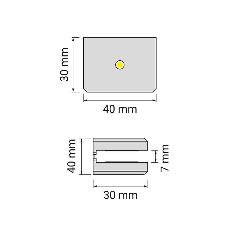 DOJO Slim 3d oprawa led do półek - rysunek techniczny