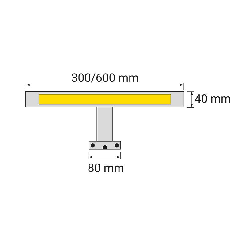 Wysięgnik LED Eiko 230V- wymiary