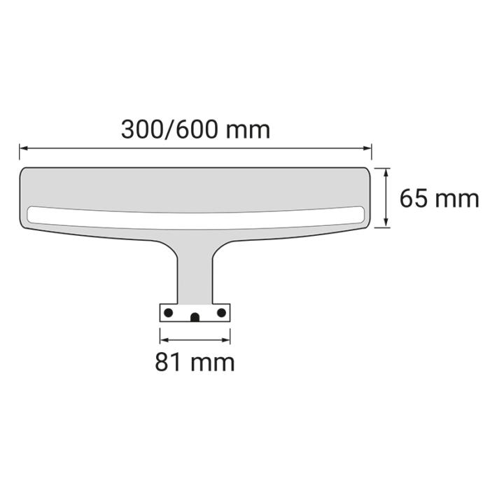 Wysięgnik LED Eri 230V - rysunek techniczny