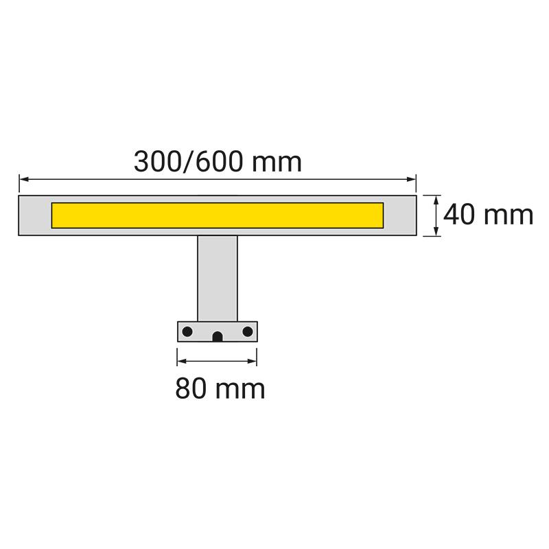 Wysięgnik LED Eriko 230V - rysunek techniczny