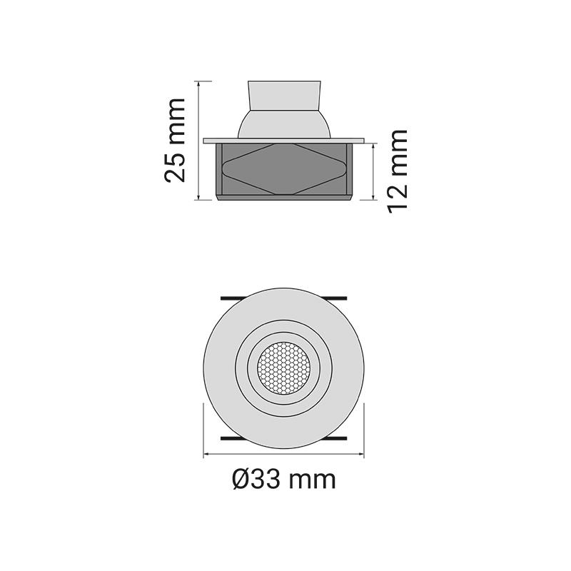 Eye LED oprawa do mebli- RYS TECH