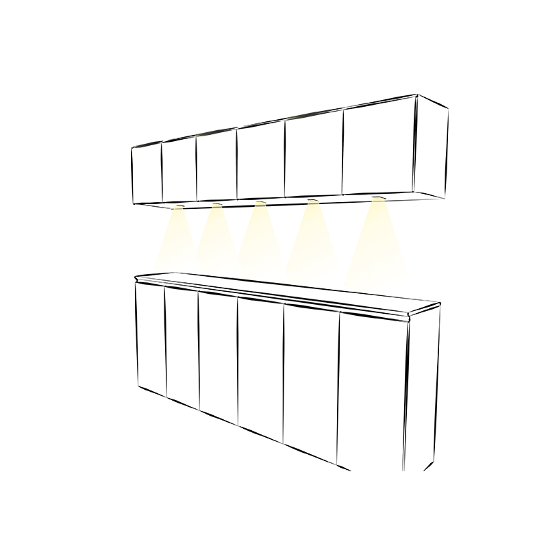 LED luminaire for furniture