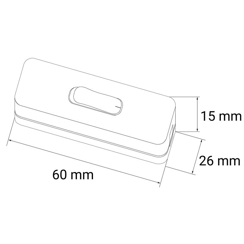 Handschalter 12 V DC / 230 V AC