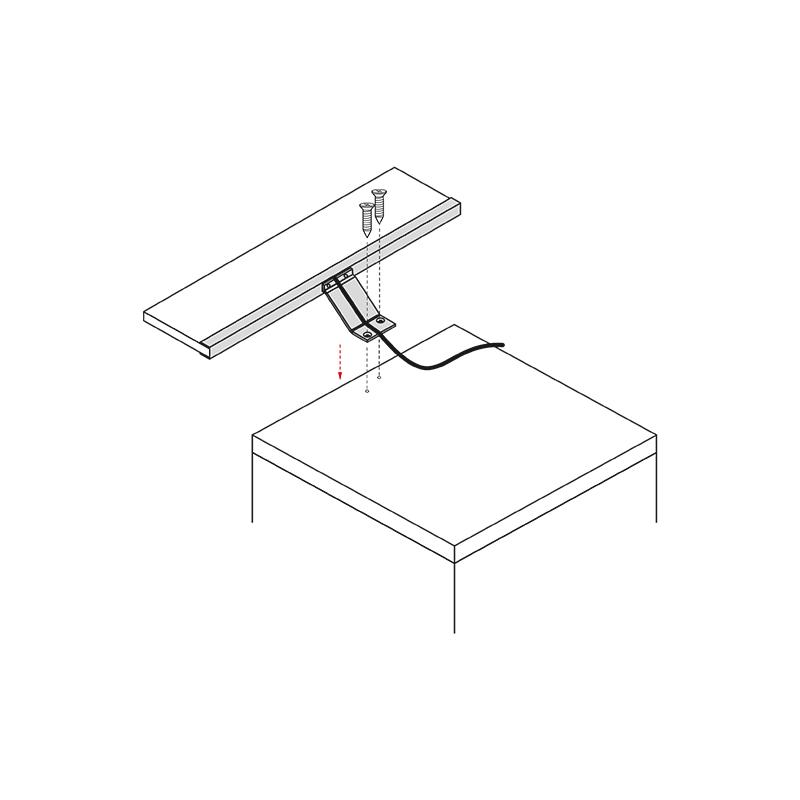 Wysięgnik LED Ice Line - montaż