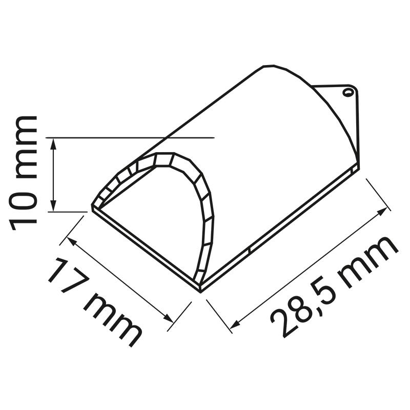 Zaślepka. Profil Iluna - profil do taśm led z tworzywa sztucznego..