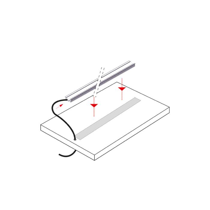 IVER LINE aluminiowy profil do oświetlenia ledowego do wp - montaż