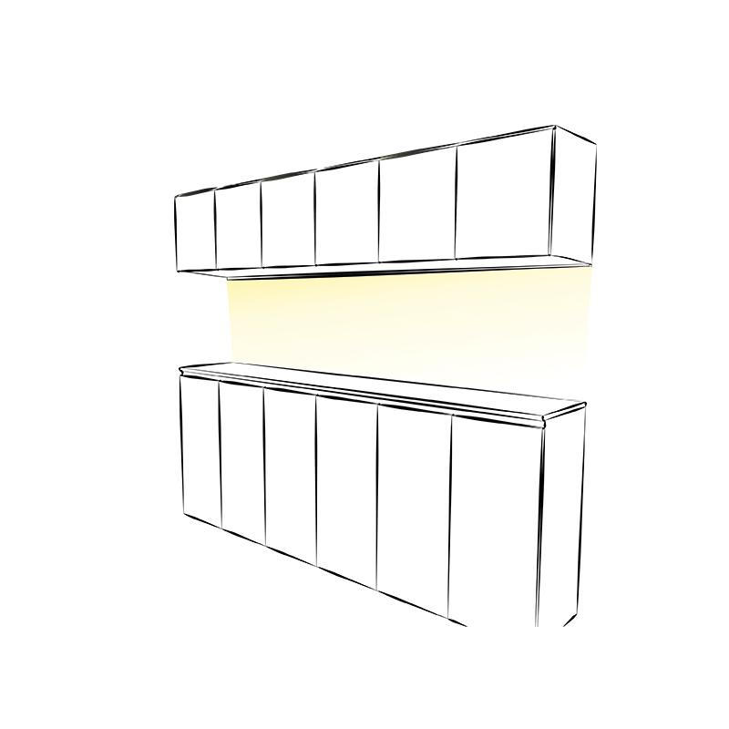IVER LINE aluminiowy profil do oświetlenia ledowego - aranżącja