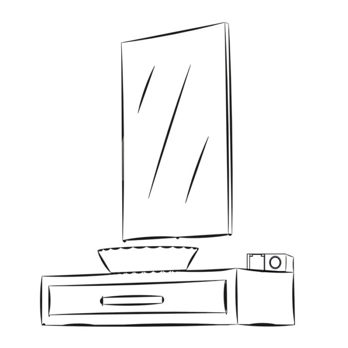 Kombibox 230 V AC ip44 - gniado meblowe do łazienki - aranżacja
