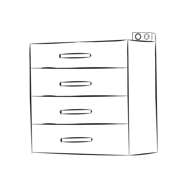 kombibox - gniazdo meblowe z wyłącznikiem - aranżacja