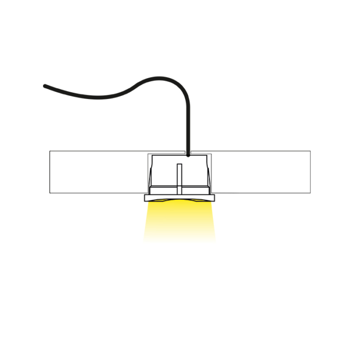 kwadro point - a small LED luminaire for furniture