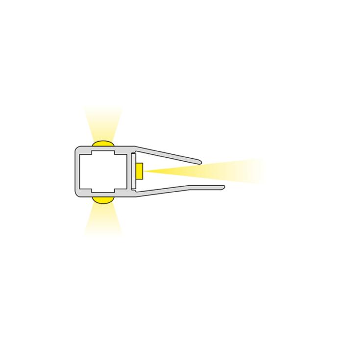 Klips 3d - oświetlenie do mebli do półek. Światło.