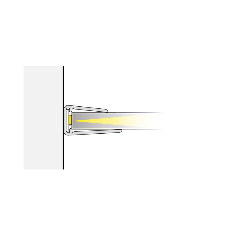 Klips LED do półek szklanych z plastiku - światło