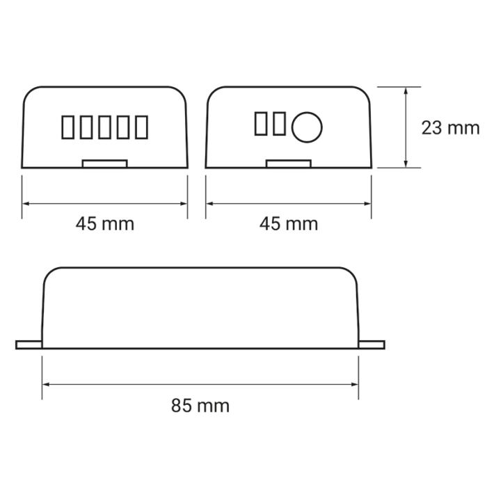 Zestaw sterujący oświetleniem LED RF 4x