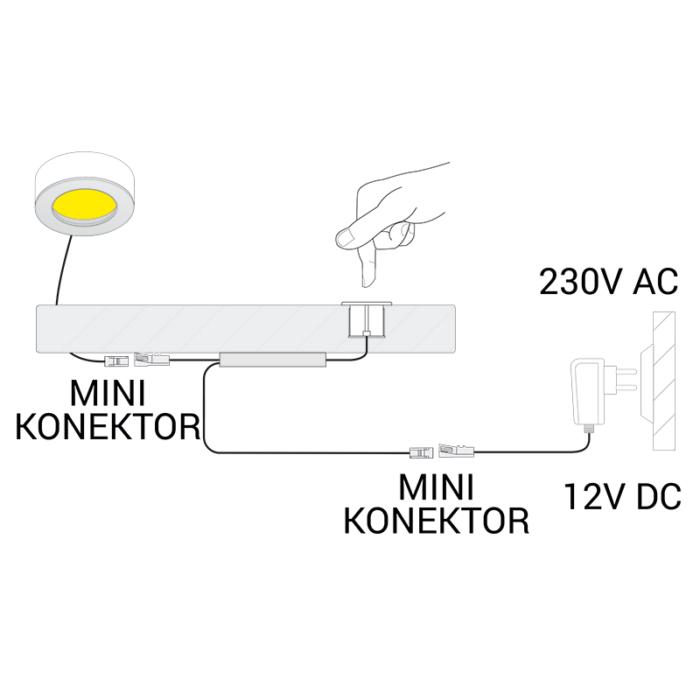 Wyłącznik dotykowy ze ściemniaczem LED 2