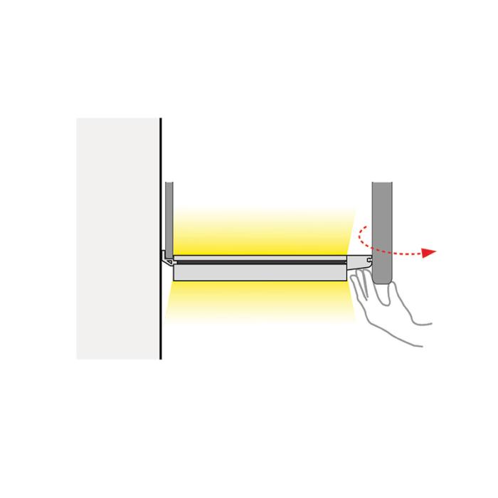 LUMINA LED - świecące dno do szafki - montaż