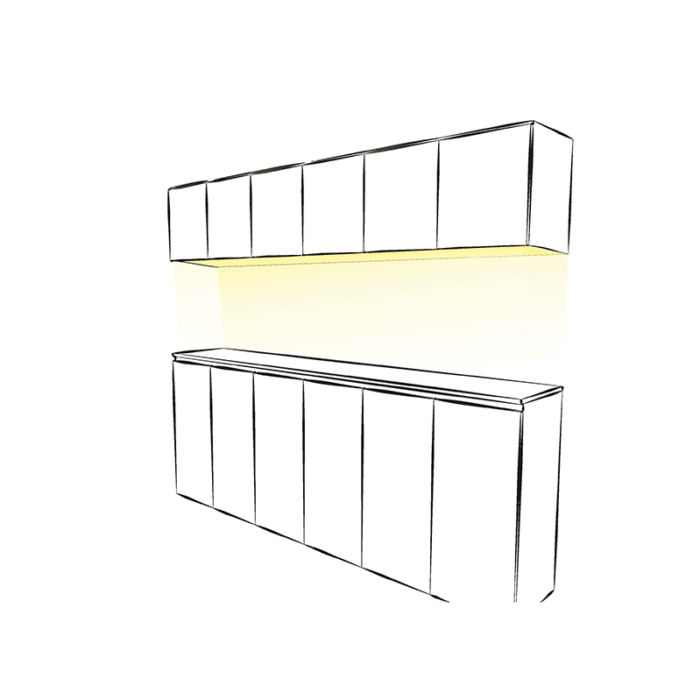 LUMINA LED - świecące dno do szafki - aranżacja