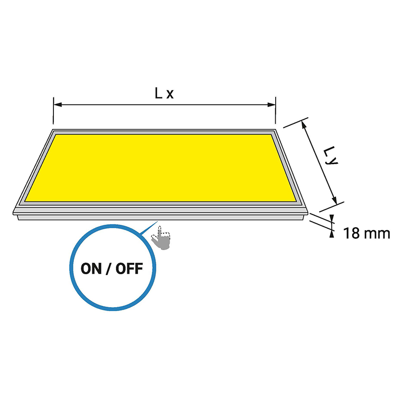 LUMINA LED - świecące dno do szafki - rysunek techniczny