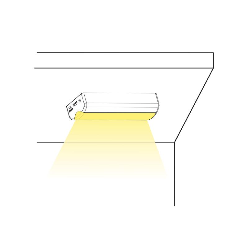 Lampka LED z akumulatorem Lumini I - sposób świecenia
