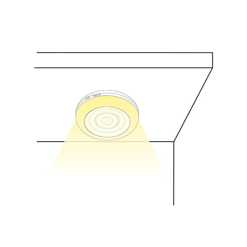 Lampka LED z akumulatorem Lumini O - montaż