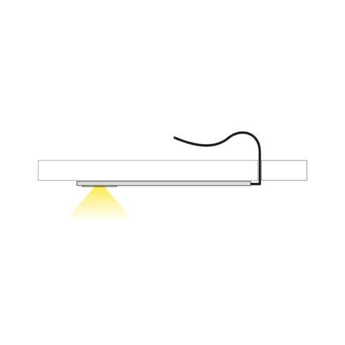 Moderna slim okrąg - światło