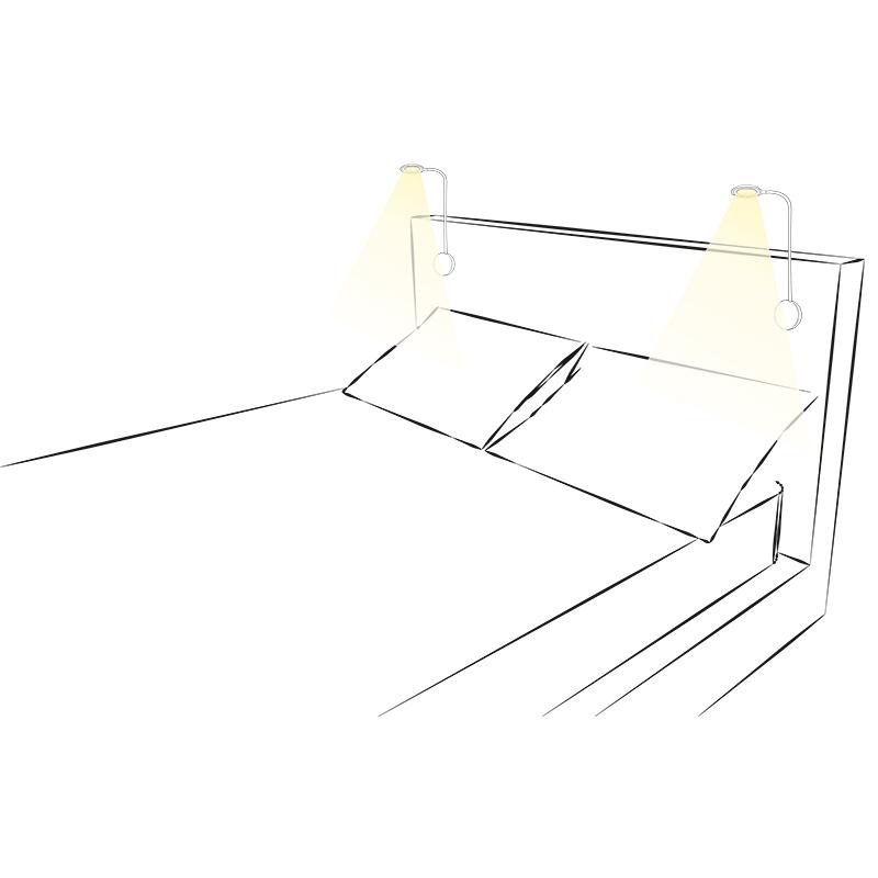 Lampka LED Modus soft touch - aranżacja