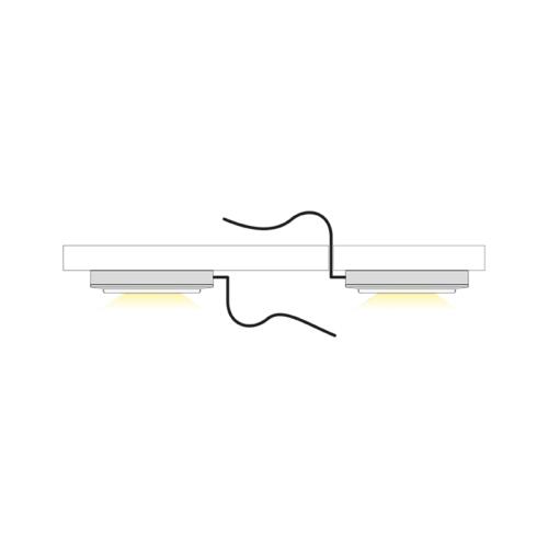 Oprawa LED Slim Base 1 - oświetlenie led do mebli - światło