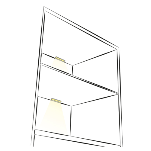 Profil LED picoloo 10 x 10 mm. Aranżacja.