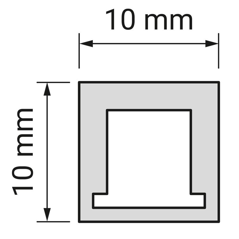 Profil LED picoloo 10 x 10 mm.