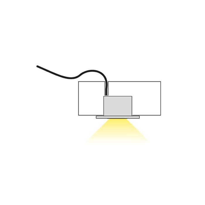Podled LED luminaire for furniture