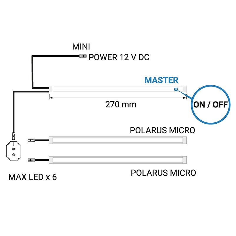Polarus micro master - profil LED -schemat