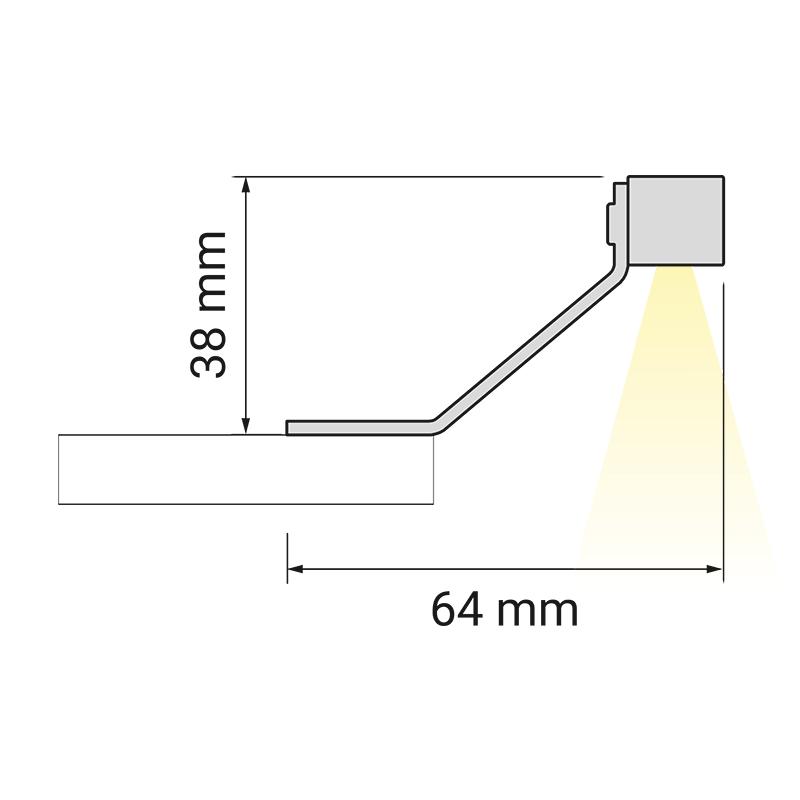 Wysięgnik LED Polistar - rysunek technizcny