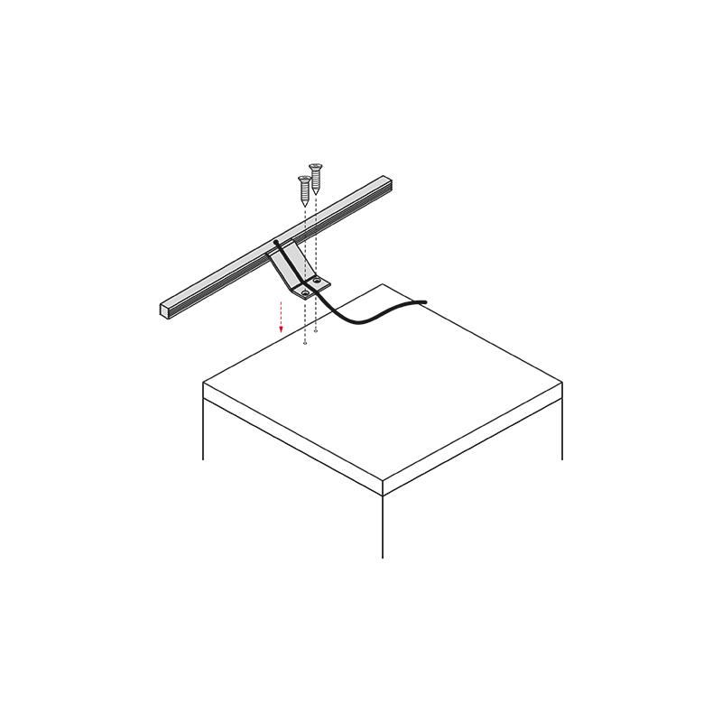 Wysięgnik LED Polistar - montaż