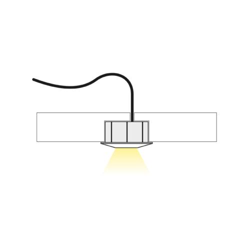 Primus - LED Spotbeleuchtung für Möbel geführt