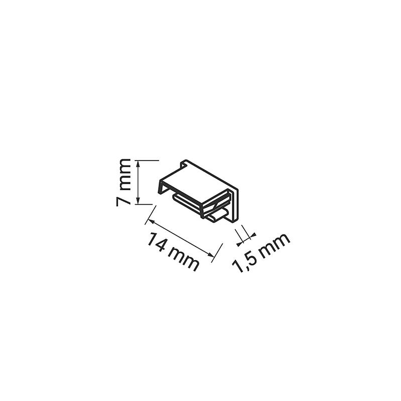 Profil Polarus Micro - aluminiowy profil do oświetlenia LED. Oświetlenie liniowe LED. Zaślepka.