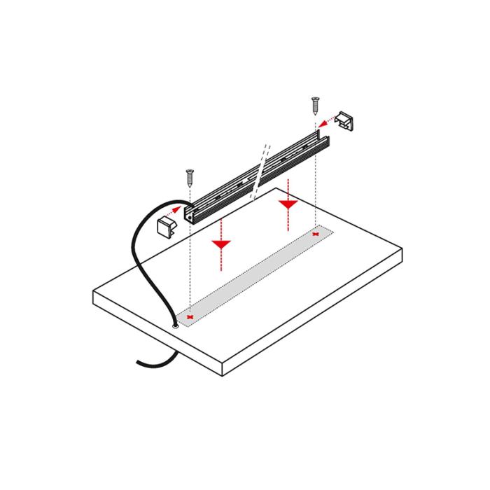 Profil Polarus Micro - aluminiowy profil do oświetlenia LED. Oświetlenie liniowe LED, Montaż