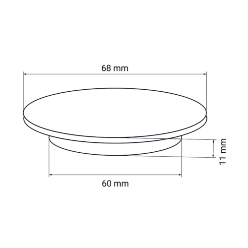 QI wireless charger - technical drawing