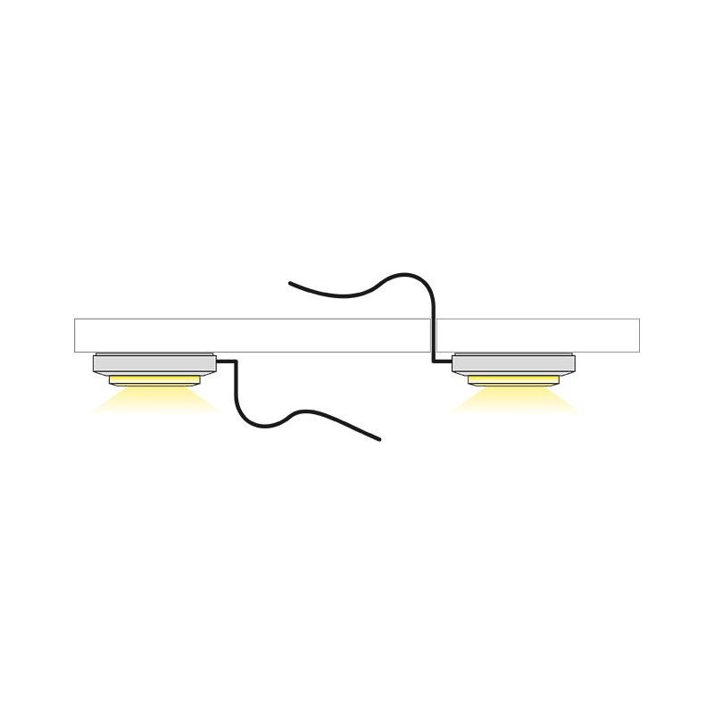 Quatro bicolour - oprawa led do mebli - światło