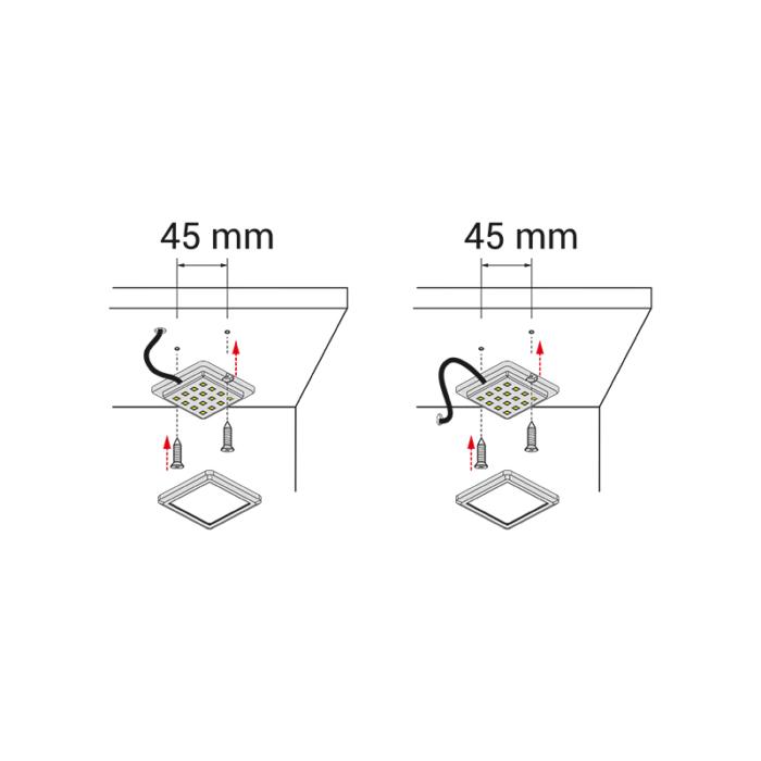 Quatro MONO - MONTAŻ - oprawa led do mebli