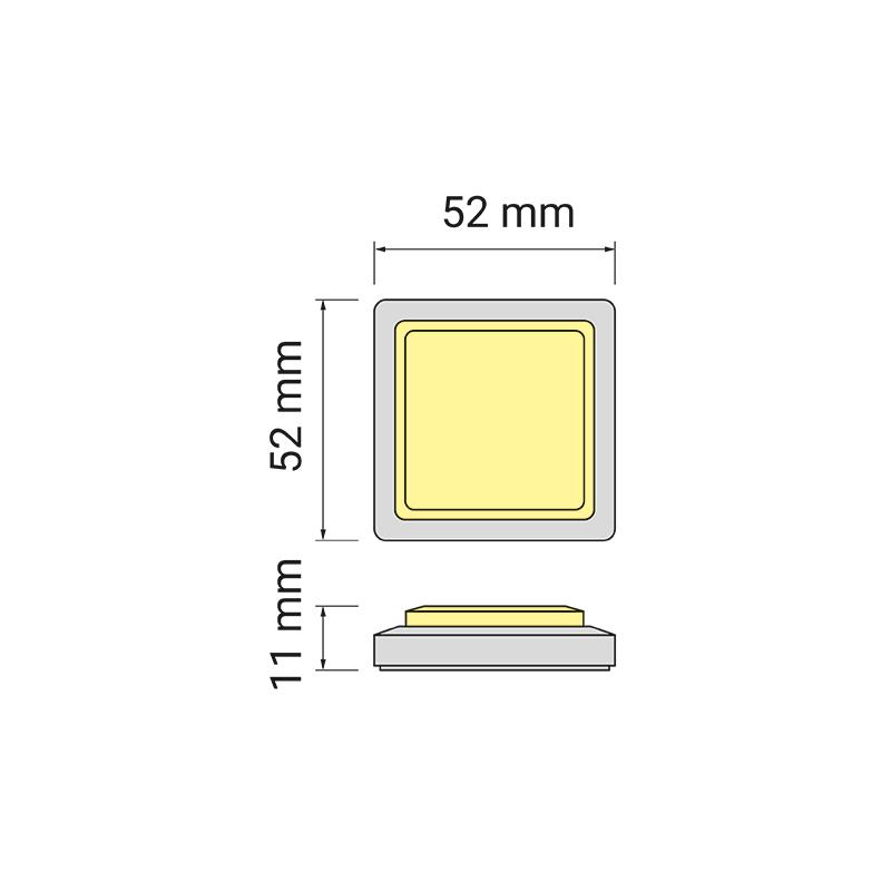Quatro tricolour - oprawa led do mebli - rysunek techniczny
