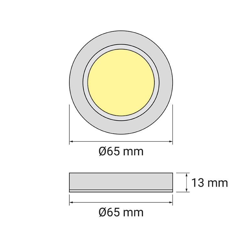 Oprawa LED Queen LED Base - rysunek techniczny