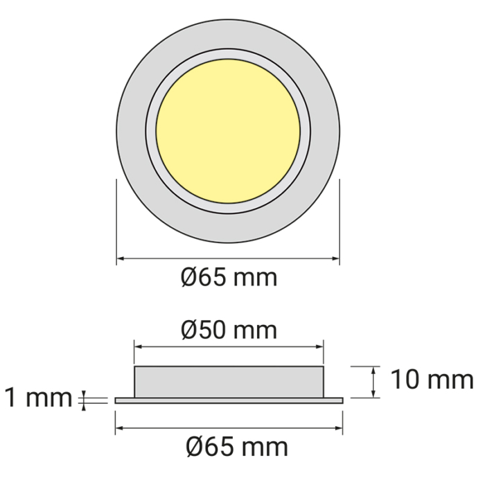 Oprawa Queen LED do wpustu - rysunek techniczny