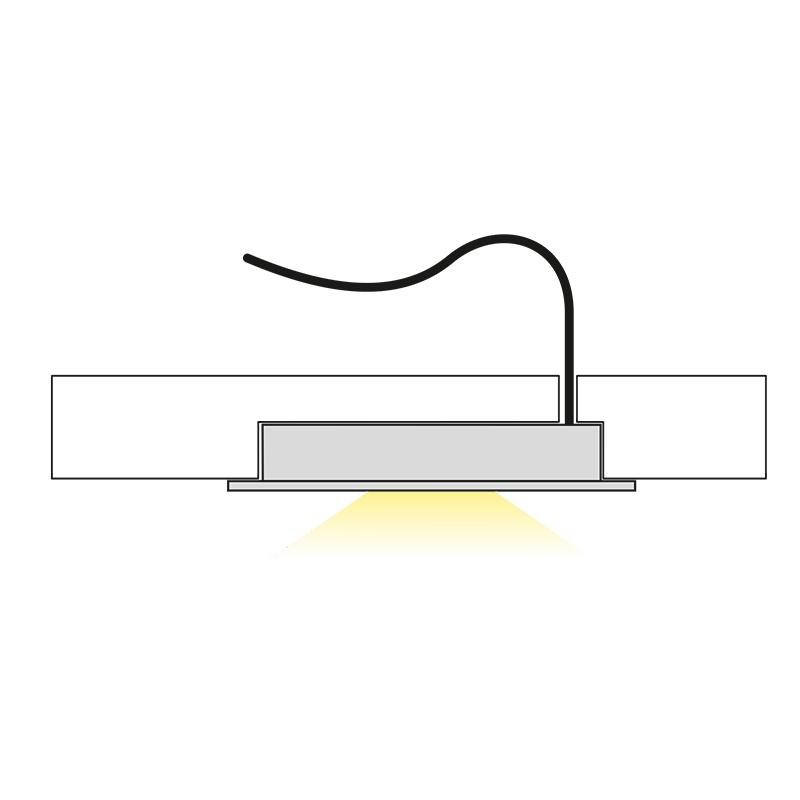 Oprawa Queen LED do wpustu - światło