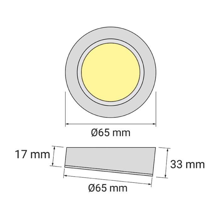 Oprawa LED Queen LED Skos - rysunek techniczny
